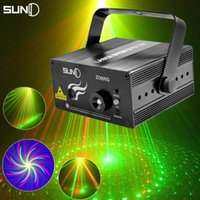 Wholesale New Led RG Pattern DJ Mini Laser Projector Stage Lighting Effect Red Green Xmas Home Party Christmas Club Bar Blue Lights
