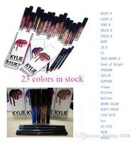 Wholesale kylie jenner lip kit liner Kylie Lipliner pencil Velvetine Liquid Matte Lipstick in Red Velvet Makeup Lip Gloss Make Up colors