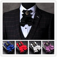 ascot tie for sale - Gentleman bow tie butterfly Hot sale Men Formal commercial cravat bow tie male solid color marriage bow ties for men