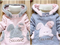Wholesale New Baby Rabbit Outerwear Girls Cute Clothes Hoodies Jacket Winter Coat Y