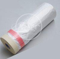 Wholesale cm m Per Roll Pre Taped Plastic Drop Cloth Masking Film Spray Paint Protection Film Plasti Dip Masking Film