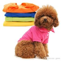 Wholesale Dog POLO T shirts Pet Doggy Apparel Dog POLO Cool Puppy T Shirt Clothes Yellow Xs s m l xl