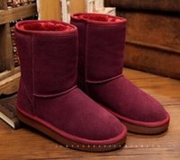 Wholesale Snow Boots for Winter NEW Non Slip Classic Half Boots Nubuck Leather Snow Winter Boots for Women Drop Shipping