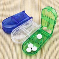 Wholesale New medicine device splitter cutting medicine box Fixed cutter creative Pill storage Cases B0965