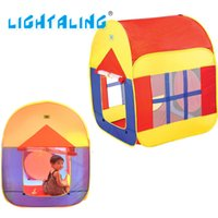 Cheap Wholesale-Colorful Play Casa Tent Children Beach Play House Baby Foldable Kids House with Window Indoor & Outdoor Toys LIGHTALING
