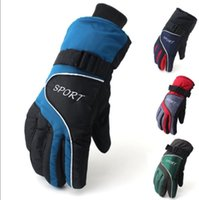 Wholesale Men s and women s upset with velvet warm winter warm waterproof outdoor cycling wind ski gloves motorcycle cotton gloves