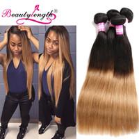 Wholesale 8A Virgin Straight Brazilian Hair Extensions Bundles Straight Hair Weaves Price Colored Brazilian Human Hair Straight Weave Ombre