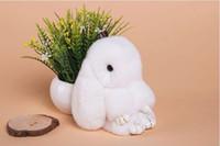 Wholesale Loaded dead rabbit bag pendant horn doll hair doll doll ornaments plush toys girls key chain
