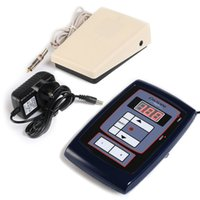 Wholesale Lcd Digital Hawk Style Tattoo Power Supply Adjustable With Footpedal for Permanent Makeup Tattoo Machine Kits power supply