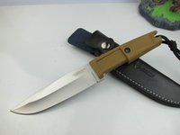 Wholesale EXTREMA RATIO clone version C002639C Cr17 Blade HRC Rubber handle rescue camping outdoor gear knife microtech benchmade chris reeve
