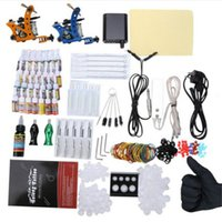 beginner box - Complete Tattoo Kit Color Inks Power Supply Top Machine Guns Choosing The Power Cable Contact Machine and Power Box