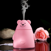 USB bear essentials - New Cartoon Bear USB Ultrasonic Air Humidifier Mini Essential Oil Aroma Diffuser Aromatherapy Home Office SPA Mist Maker