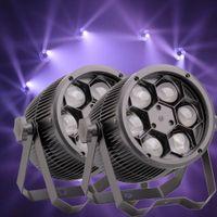 Wholesale 2pcs Bee Eye W RGBW LED DMX512 Par Lamp Stage Light Focusing DJ Party Wedding Beam Effect Lighting