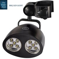 Wholesale LNL Outdoor Barbecue Grill Light with Super Bright LED Lights Handle Bar Mount BBQ Light