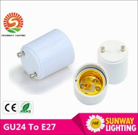 Wholesale In Stock GU24 to E26 GU24 to E27 Lamp Holder Converter Base Bulb Socket Adapter Fireproof Material LED Light Adapter Converter