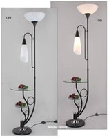 Wholesale New Arrival Mordern Floor Lamp with Twist Glass Table Top Living Room Decorative Lighting Led Floor Lights