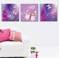 Oil Painting beauty picture frames - High quality pieces beauty butterfly wall oil painting on canvas wall for living room