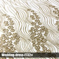 Wholesale Excellent luxury lace glitter sequin fabrics new design high quality clothing multi color wedding dress for party