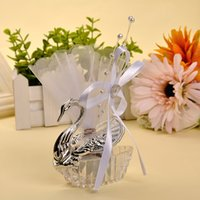 Wholesale Elegant Acrylic Swan Sugar Candy Box Silver Gold Color Wedding Party Decoration Supplies Christmas Valentine s Gifts