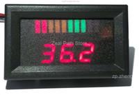 Wholesale 10 bar LED Digital Battery Charge Indicator with voltage indication For Golf Cart motorcycle boat V V V V V
