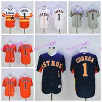al por mayor la moda houston-2017 Flexbase 1 Carlos Correa Jersey Houston Astros Carlos Correa Camisetas de béisbol Cool Base Moda Equipo Color Arco iris Naranja Blanco Gris