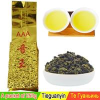 al por mayor lazo de grado-250g Té chino del té del tieguanyin del té chino de Oolong del grado superior ojo del guan yin del té del yin el alimento verde nuevos productos del cuidado médico al por mayor