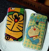 apple laser mouse - 2016 Doraemon Mickey Mouse direct iphone6S mobile phone shell apple plus blue laser silicone soft shell