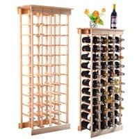 Precio de Bastidores de almacenamiento de vino-Nueva 44 botellas de vino de madera de almacenamiento en rack estantes de visualización Cocina Decoración Natural