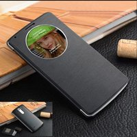 For LG auto fit - For LG G3 D855 F400k Slim Quick Smart Circle View Shell Auto Sleep Wake Function Original Back Flip Cover Leather Case Holster
