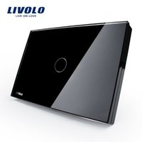 Wholesale Livolo switch touch switch smart home products rectangular C8 black touch single control