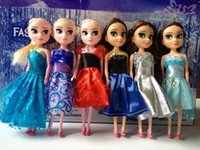 Wholesale Lovely ELSA Anna princess dolls cm frozen dolls for Christmas gifts with gift box packing