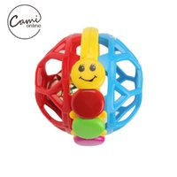 Wholesale Baby Cartoon Intelligence Rattles Toy Newborn Infant Toys Kids Educational Ring Bell Bendy Ball Toddlers Grasp Training Tool