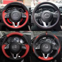Wholesale Mazda series Dedicated sets CX Mazda Dedicated hand stitched leather steering wheel sets Black perforated