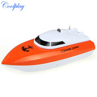 Wholesale Coolplay charging outdoor toys radio control RC Channels Waterproof Mini speed boat Airship CP802 as gift for children