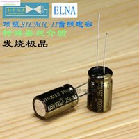 aluminum oxygen - Promotion For uf v mm Electrolytic Capacitor Of Oxygen free Copper Top Silk Medium Foot Sounds
