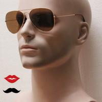 Clásico Visión más alta Vidrio más fuerte Tamaño de lente Marco del acero inoxidable Hombres Vidrio de las gafas de sol, 001/33 55 58 62m m Piloto gafas de sol