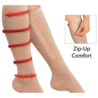 Wholesale 100pairs Zipper Compression Leg Socks Women Zip Up Sock Ultrathin Breathable Zip Sox