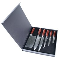 Wholesale Sunnecko Damascus Kitche Knife Sets Layers Japanese VG Steel Blade Strong Hardness Cooking Knives with Pakka Wood Handle
