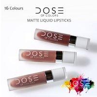 Wholesale Brand New Dose of Colors Super Matte Liquid Lipsticks Colors Waterproof Nutritious Long Lasting Lipstick Drop Shipping