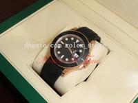 Precio de Wr s-Relojes de lujo relojes de hombre relojes de moda al por mayor Reloj de oro 40 mm de oro rosa de oro correa de caucho negro 116655 mecánico reloj automático de los hombres Wr
