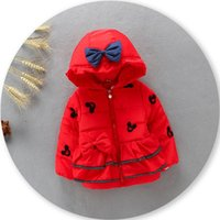 baby girl winter coats - Hug Me Baby Girls Cotton padded jacket New Autumn Winter Warm Fur Collar Outerwear Coat FF SO