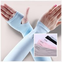 Wholesale 2 in1 Hot Sun Prevent UV Cooling Arm Sleeves Sun Protective Cycling Basketball Football Running Outside Sport Raglan Sleeves Arm Warmers