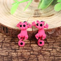 Wholesale 3PAIR Color Fashion Lovely Classic Animal Korean Cute Cat Earrings For Girl Women Gift Jewelry