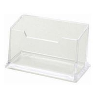 Wholesale Business Card Holders Transparent Plastic Office Destop ID Card Organizer Company Office Supply Papelaria