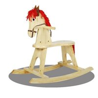 baby rocking horse toys - New Arrival Kids Rocking Horse Children Funny Wooden Ride On Toys Baby Photography Props Rocking Chair for Kids VT0426