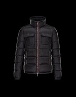 Invierno hombres de la chaqueta del sombrero desmontable marca bordado 2016 francia logo de la marca de fábrica M pato masculino abajo de la capa de la chaqueta pato blanco abajo de los abrigos