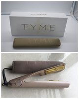 Wholesale With LOGO TYME IRON Gold Plated Titanium Plates Fast Hair Straighteners Irons Fast Hair Straightening Ceramic Hair Curler Styling Tools