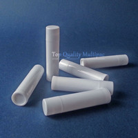 Wholesale 5g white plastic lip balm tubes lipstick container cosmetic packaging