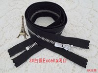 Wholesale ykk metal leather mouths zipper cm cupronickel Excella silent zipper zinc alloy by hand held the black zipper