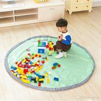 Wholesale meters Portable fresh Kids Toy Storage Bag and Play Mat Lego Toys Organizer Bin Box Fashion Practical Storage